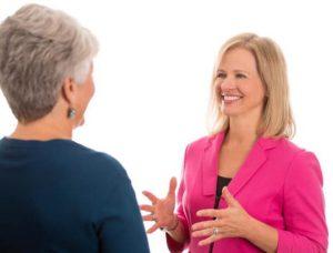 Julia Curtis coaching a client